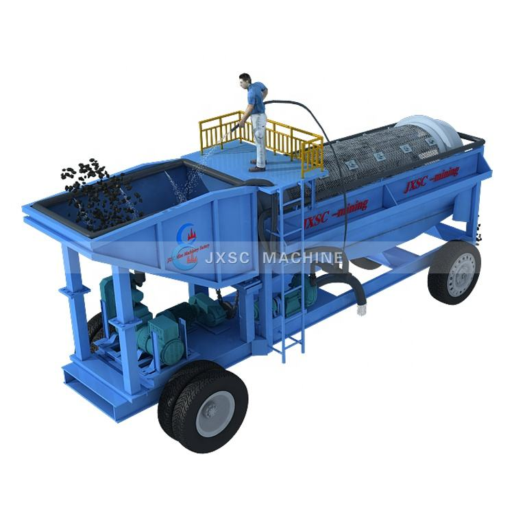 Factory Price Gold Washing Plant Mineral Machinery Efficient Trommel Screen High Capacity Gold Trommel for Sale