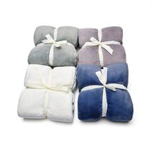 cheap wholesale Flannel Blanket Plush Knit Baby Swaddle blanket Super Soft  Throw Blankets