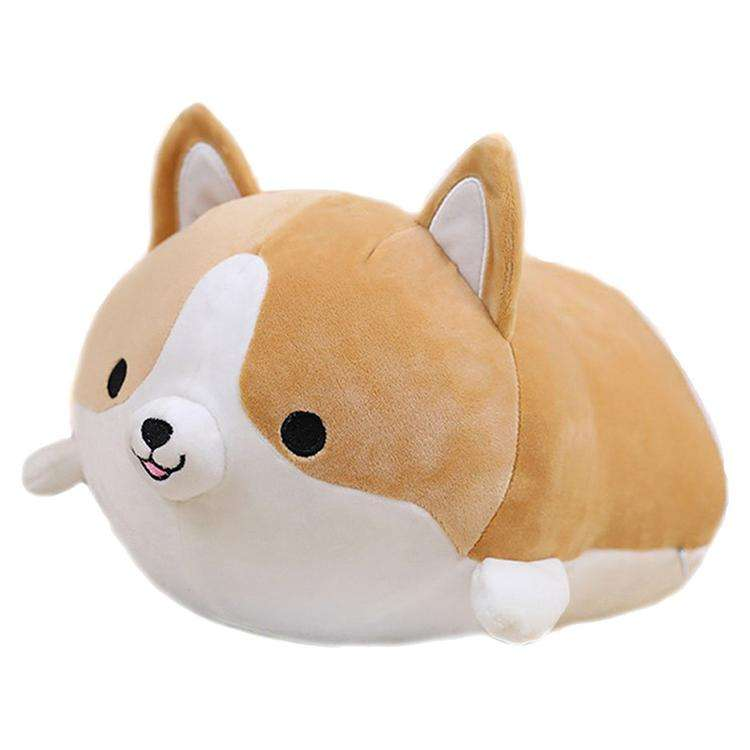 Corgi Pillow Soft Stuffed Animal Toy Plushie for Office Student