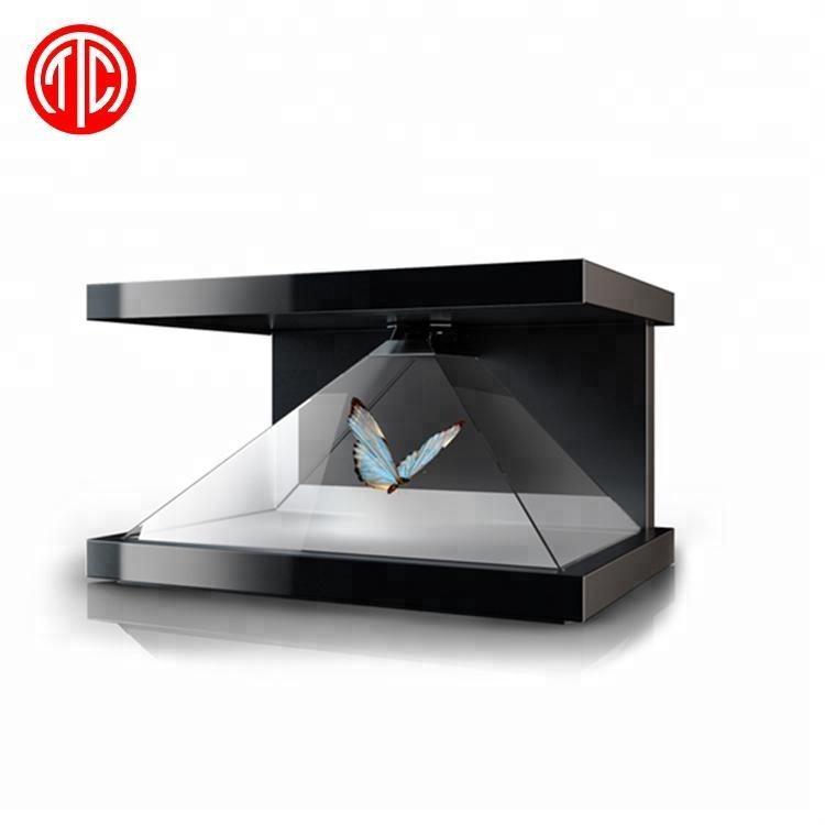3d olografico display monitor <span class=keywords><strong>lcd</strong></span> digital signage scatola ologramma vetrina pubblicità coperta piramide macchina schermo usb totem