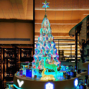 outdoor commercial lighted metal frame giant atrium christmas tree lights and decoration