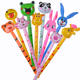 PVC children's inflatable toys animal head wholesale inflatable long stick animal stick giraffe