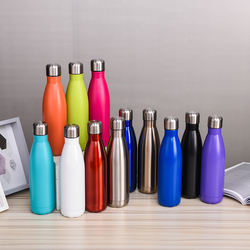 304 stainless steel double-layer coke bottle thermos soda popular logo sports bottle creative foreign trade gift cup OEM