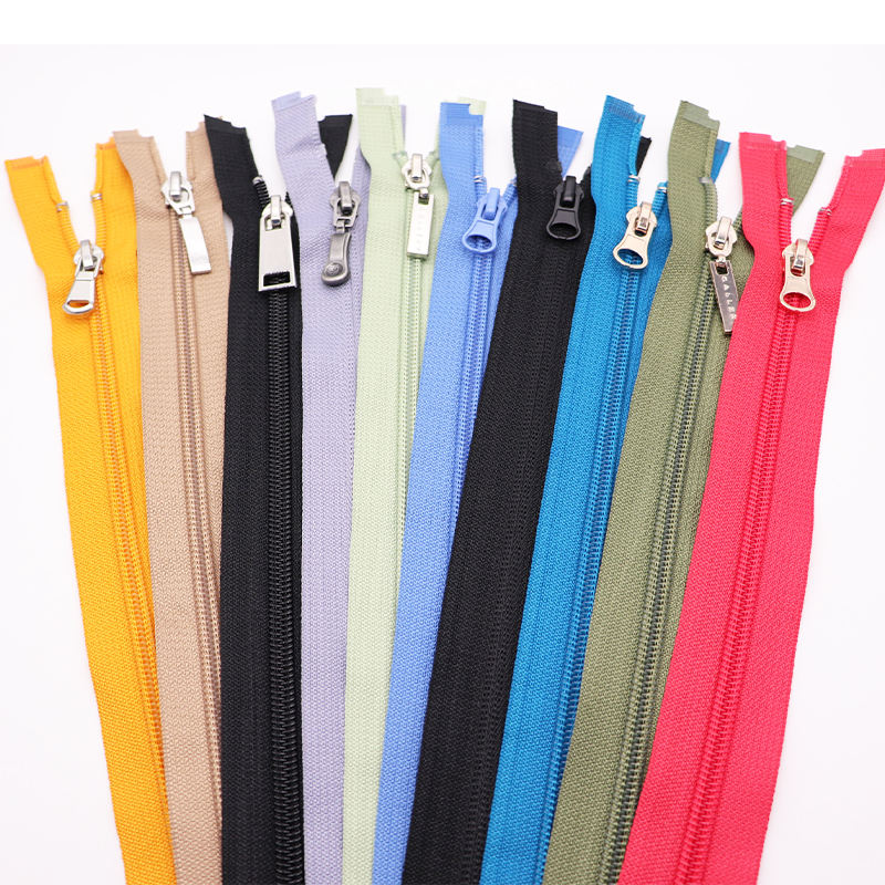 canvas bags zipper no 5 nylon coil zipper for sale open end 3#5#8#garment zipper for sleeping bags