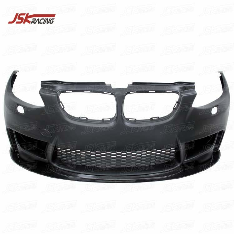 2009-2012 1M STYLE PP FRONT BUMPER WITH CARBON FIBER FRONT LIP FOR BMW 3 SERIES E92