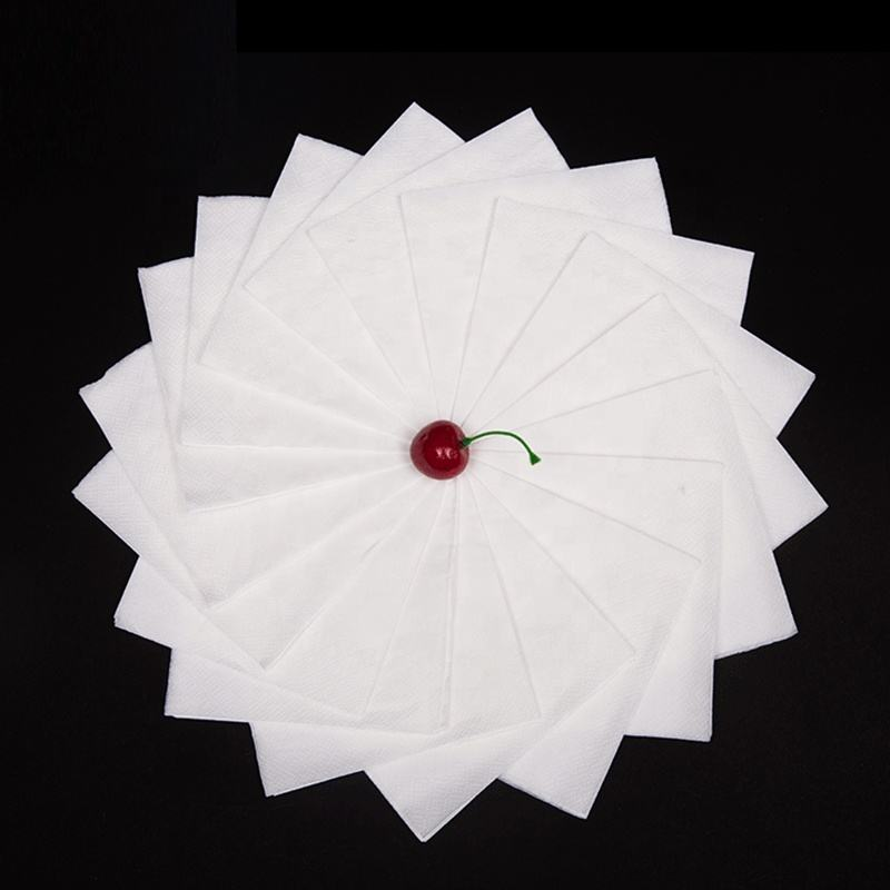 Fancy Custom Printed Recycled Paper Napkins For Restaurants With Logo Print for advertising
