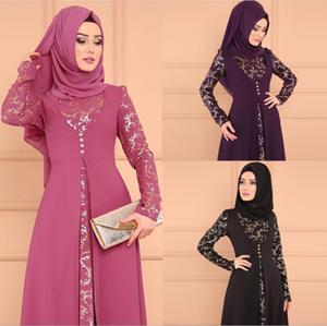LSY368 two-piece Muslim dress beautifully embroidered Islamic Clothing Fashion Kimono Arabic Style Dubai Muslim abayas