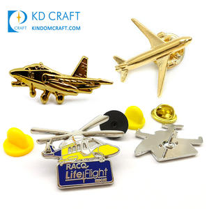 Hot sale no minimum order custom metal 3d aircraft badge gold silver plated airplane airbus lapel pin