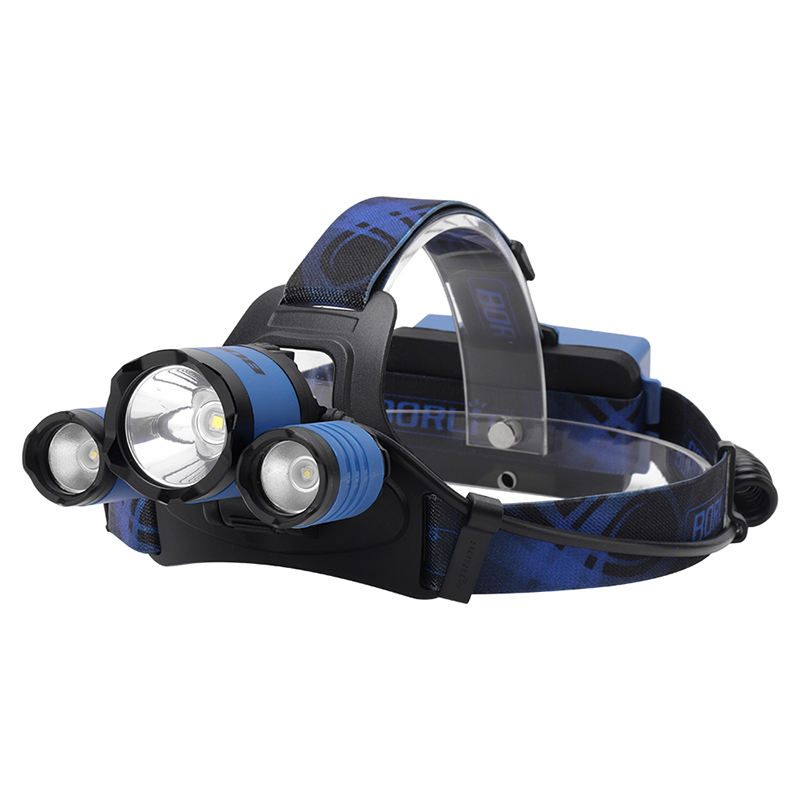 Cloverclover Outdoor Adjustable Strap Super Bright Headlamp Camping Flashlight Torch Blue