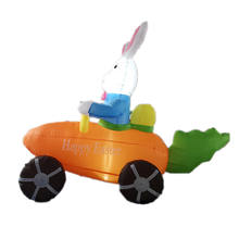 inflatable rabbit car for holiday yard decoration