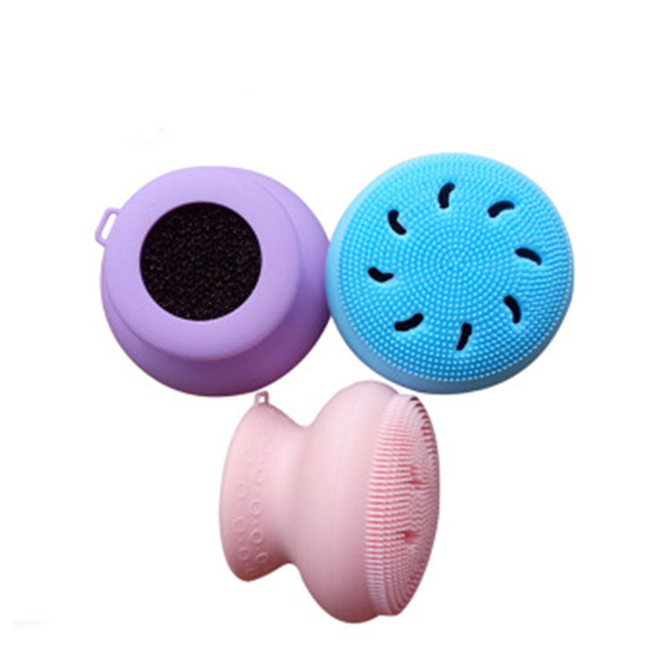 Silicone bath brush, silicone body brush, soft rubber sponge brush for back washing bathroom shower kit body brush