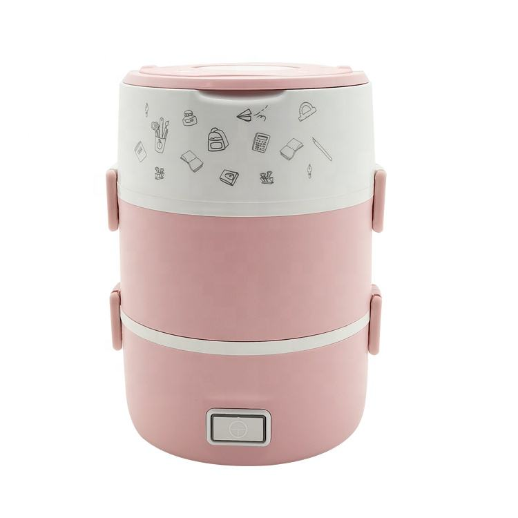 2020 new plastic pp shell electric lunch box food heater electric rice cooker electric