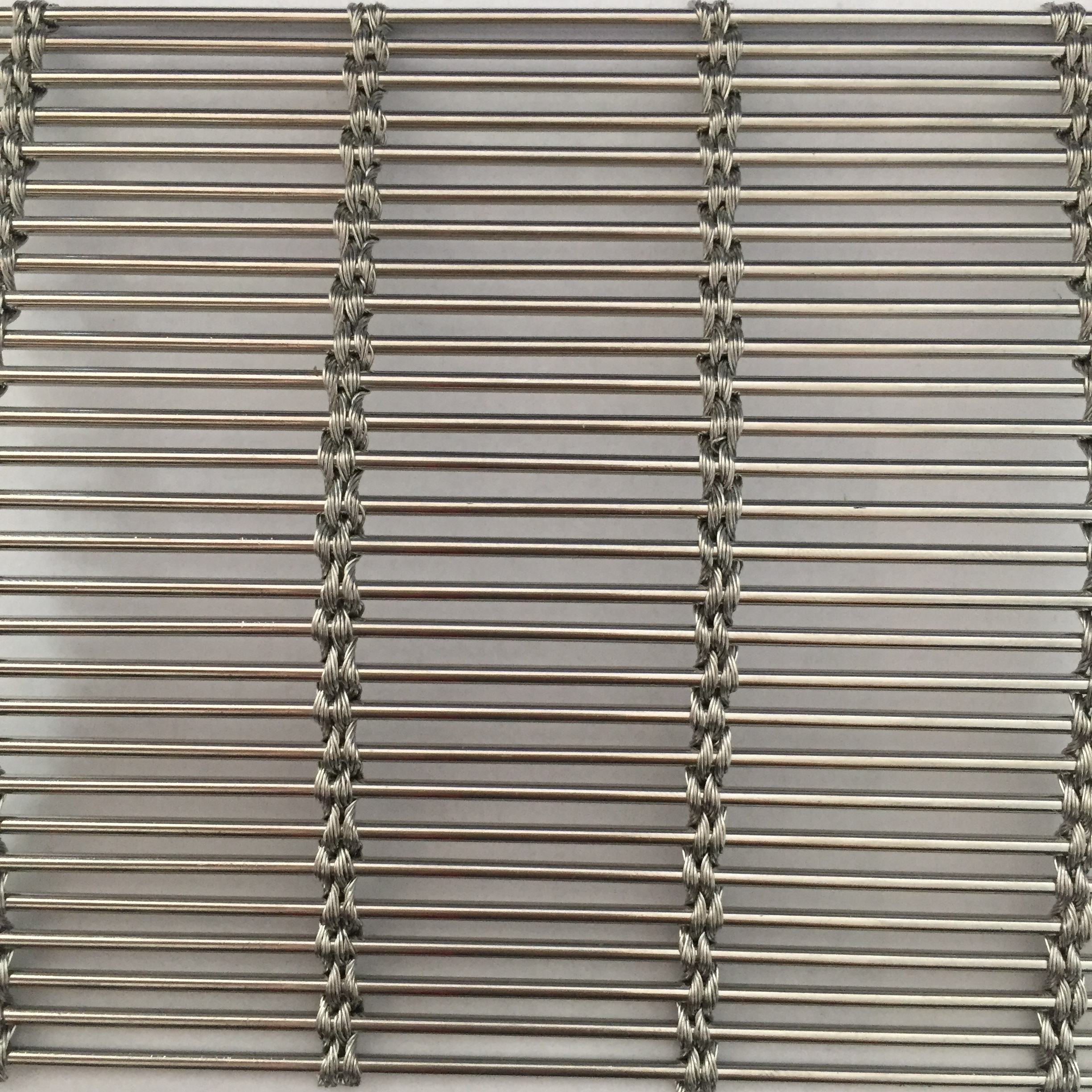 Stainless Steel Wire Solar Shading Architectural Mesh Metal Curtain For Partition Wall