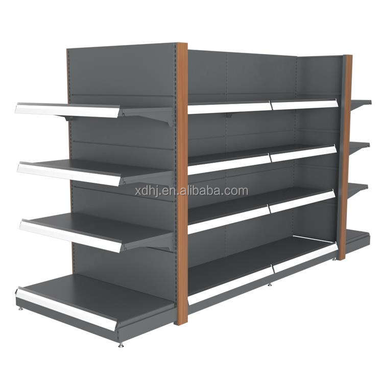 Durable Metallic Duty Customized display shelf supermarket Products Heavy Duty Rack Supermarket Steel Metal Shelf Display Heavy