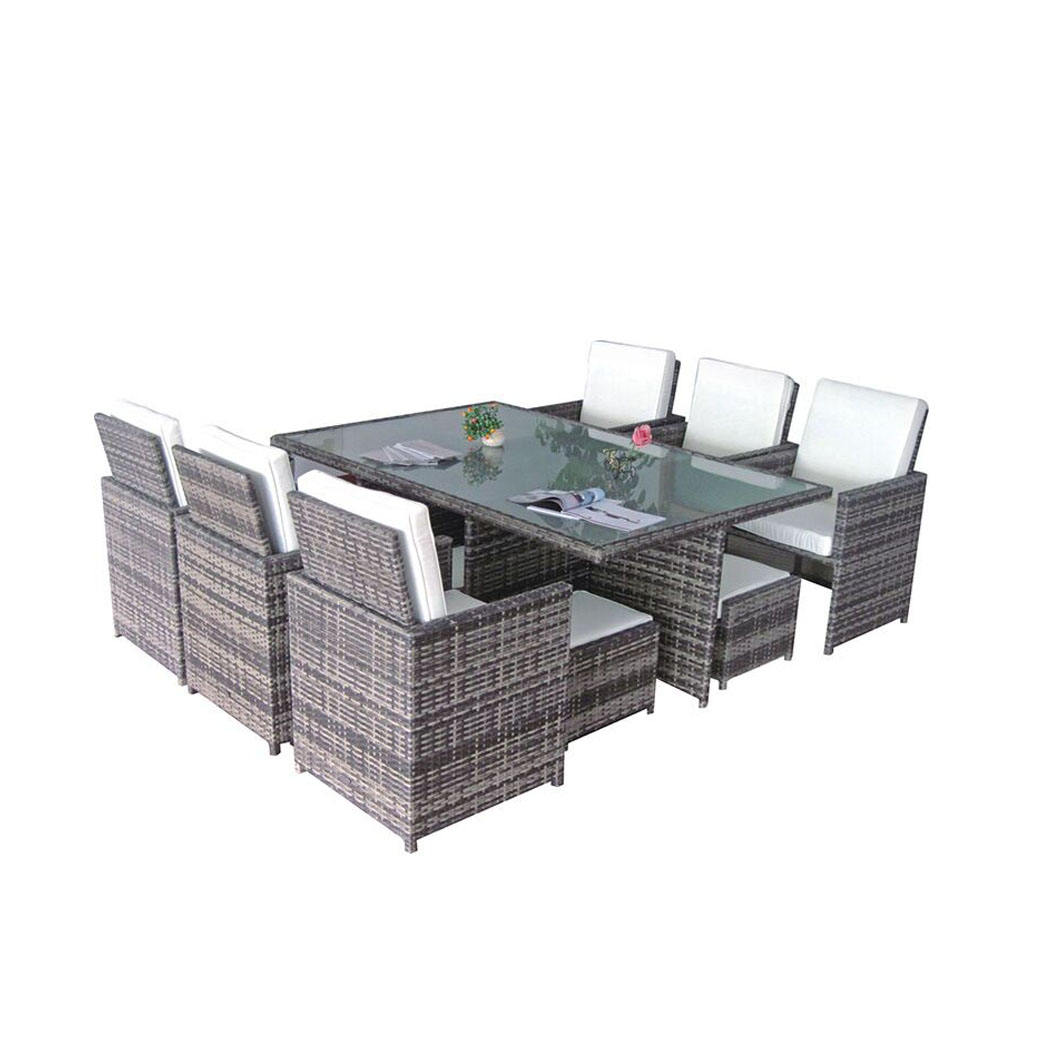 Weatherproof Outdoor Wicker/rattan Furniture Patio Table And Chair saving space furniture outdoor dining sets