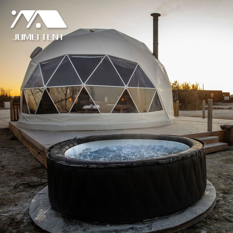 Aluminum Frame Double Pvc Coated Yurt Geodesic Iglu Dome Tent For Party Event