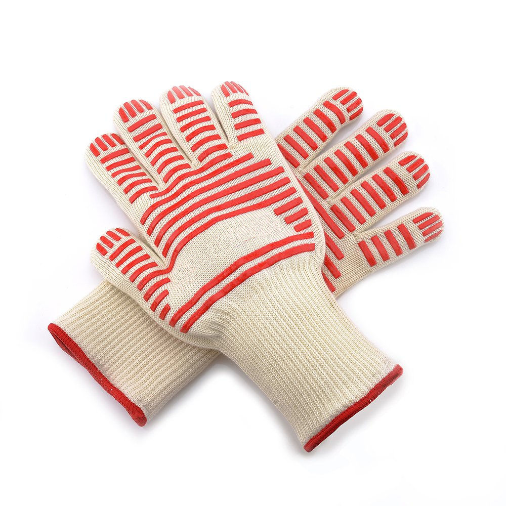 Premium Insulated Durable Fireproof Kitchen Mitts Extreme Heat Resistant Gloves Cooking Grill BBQ Gloves