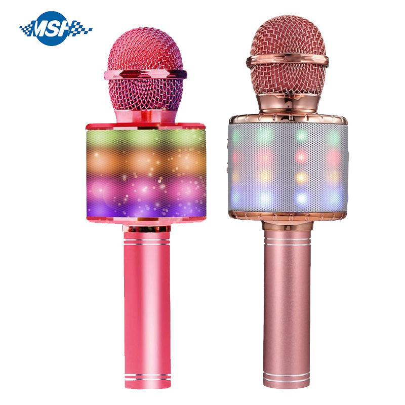 Speaker For Home Party Kids Play Electric Musical Portable Mini Karaoke Microphone