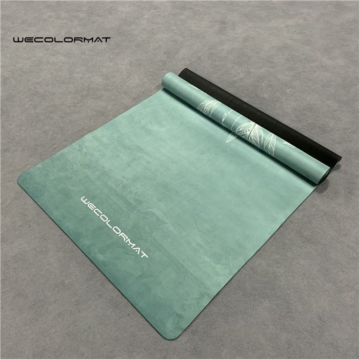 Custom Brand Heat Transfer Printed Natural Rubber Yoga Mat For Amazon buyer