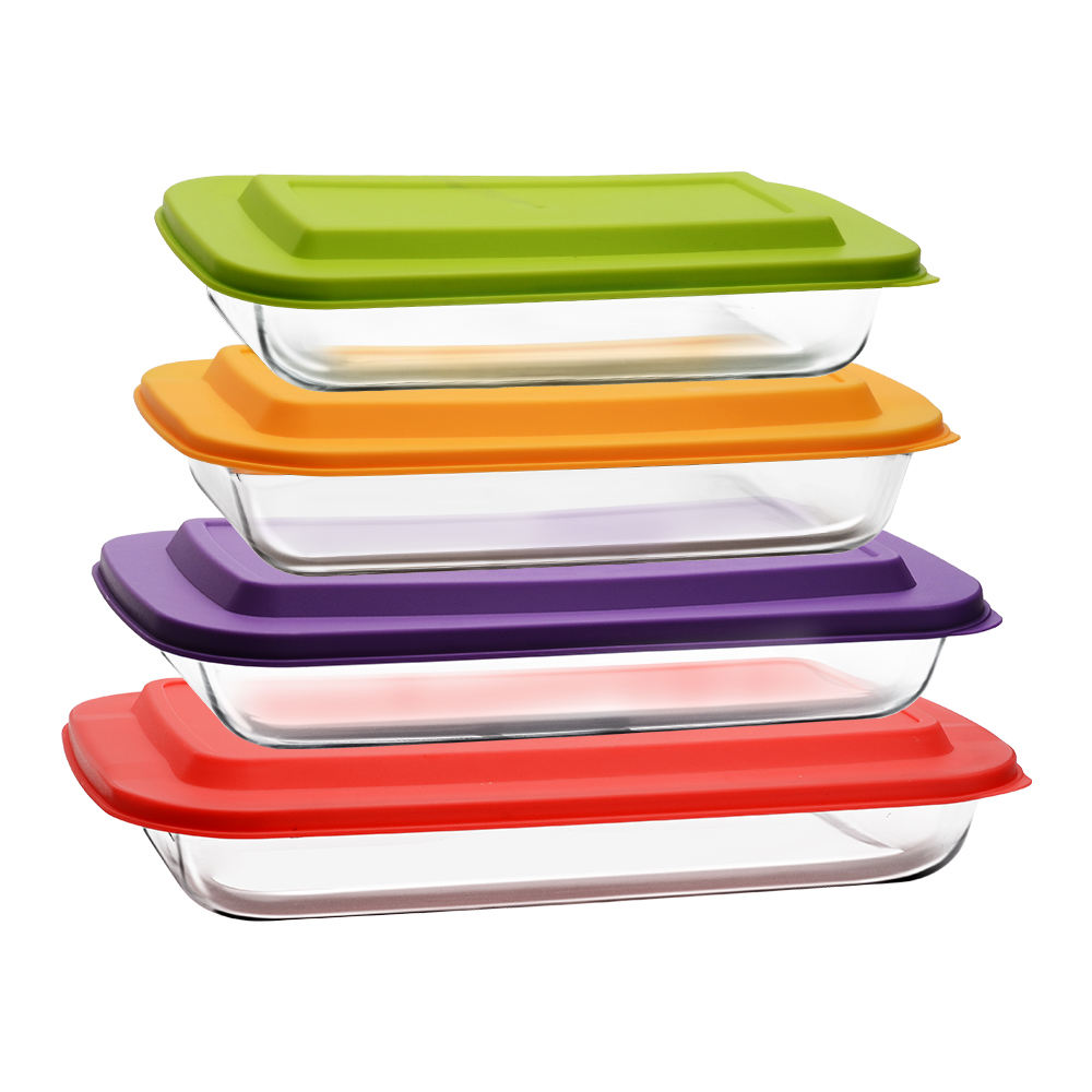 Housewares High Borosilicate Glass Heat Resistant Baking Dish Pan Plate Tray