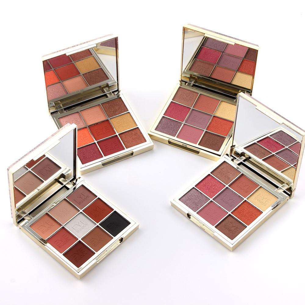 9 color shiny private labels purely suppress high pigment illusion quicksand eyeshadow