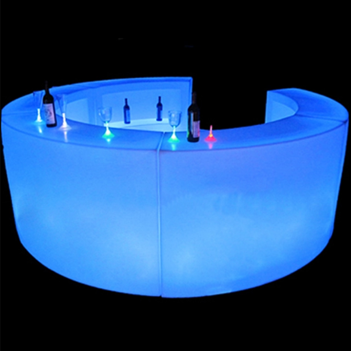 Bar height wicker chairs wholesale nightclub furniture LED bar counter on sale
