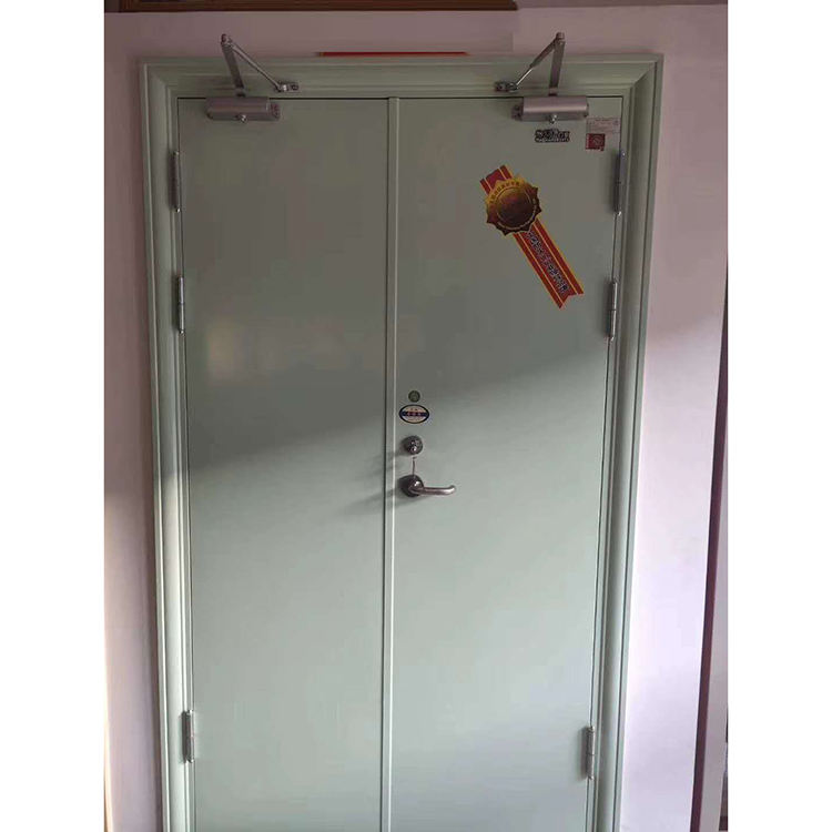 Wholesale Steel Material Hotel 2 Hour Gastight Fireproof Steel Door