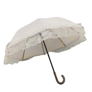 19inch decorative pattern color change bubble lady umbrella with lace edge