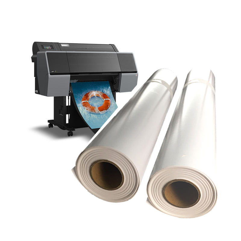 Wholesale Large Format Cast Coated 260gsm High Glossy Inkjet Plottter Photo Printing Paper Roll