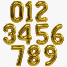 Nicro 40 Inch Letter Aluminum  Giant Alphabet  Helium Foil Mylar for Party Happy Birthday Decoration Helium Foil Balloon