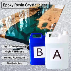 Clear transparent epoxy resin for river table/ wood table furniture with high performance hardness and yellowing resistance