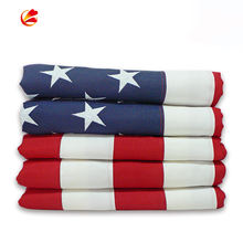 High Quality 3x5ft  Embroidered Star 100% Cotton fabric American Flag