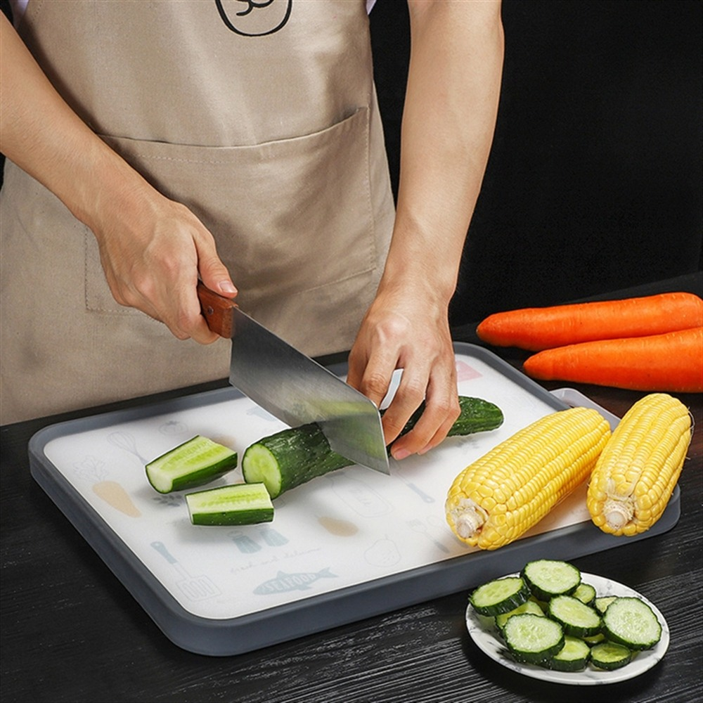 Cutting Board Hongda 304 Stainless Steel Household Vegetable Fruit Chopping Board Meat Cutting Board
