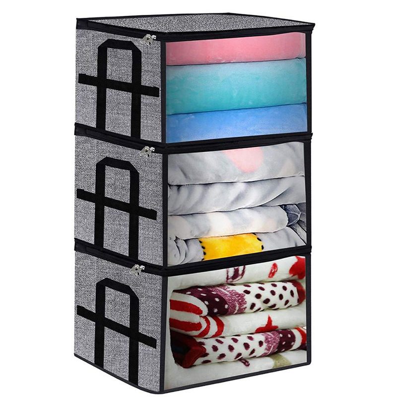Large Capacity Foldable Fabric Storage Bag Blanket Clothes Organizer Bins
