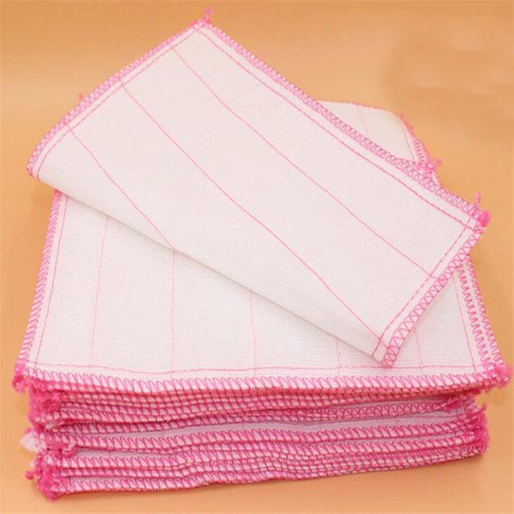 5 layers of 28 * 28 dish towels, non-oily bamboo fiber cleaning cloth