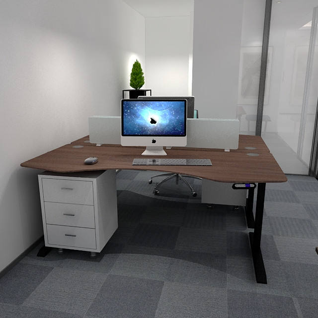 Most Popular Black Electric Office   Living Room Working Sitting To Standing Computer Desk