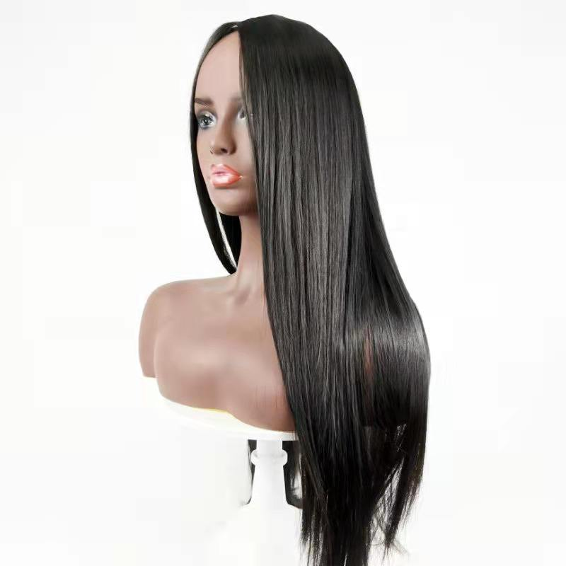 Black color synthetic lace front wig 28 inch wigs for black women