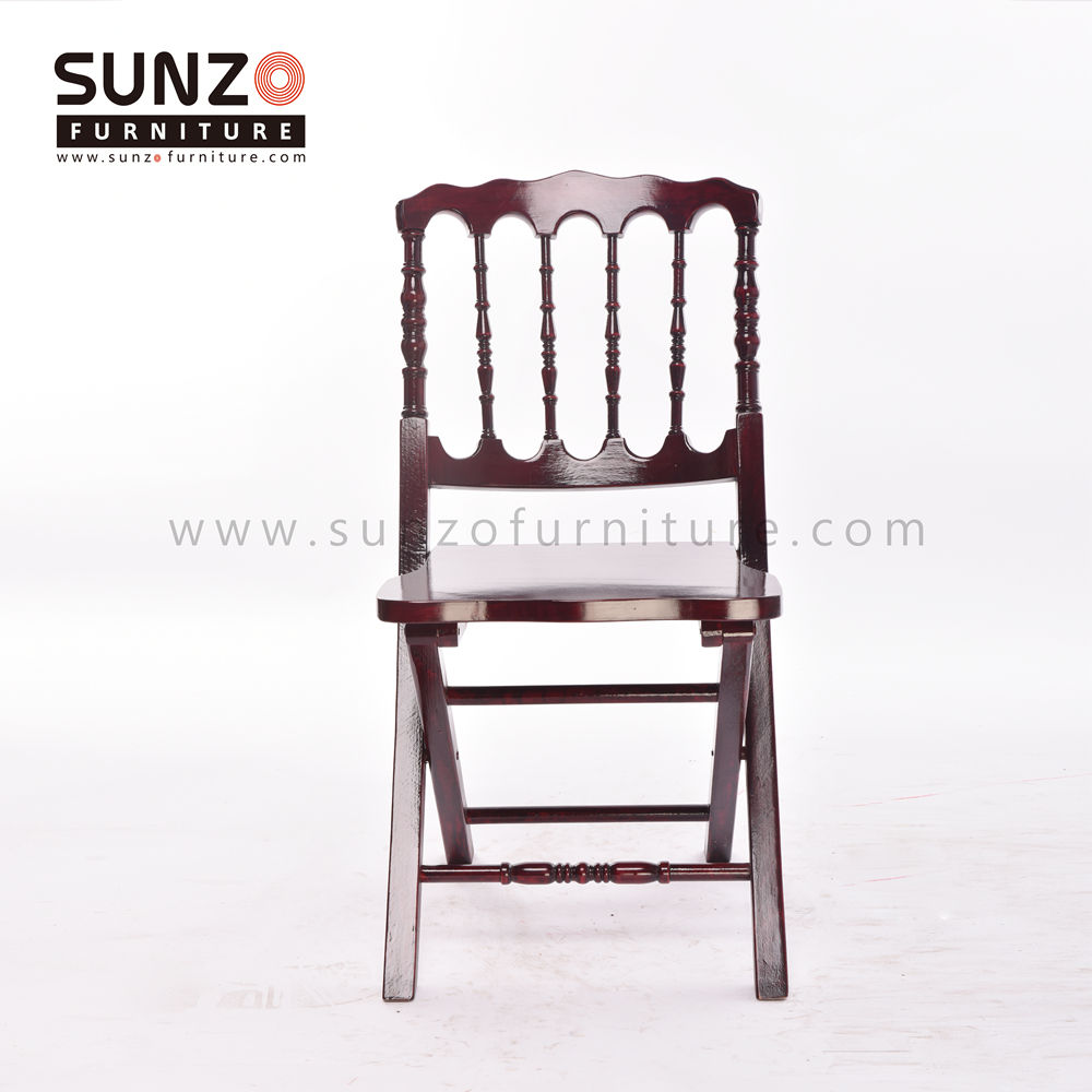 wood napoleon folding chair garden chair for wedding