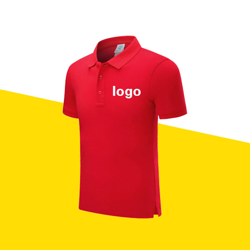 T-shirt logo 100% Cotton Short Sleeve Polo Shirt work clothes T-shirt embroidery print made in china