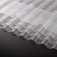 10-Year Warranty polycarbonate material clear 0.8 / 1mm corrugated plastic roofing sheets