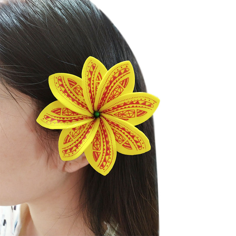 Foam tiare hair pick women wear hair accessories Hawaii tropical flower