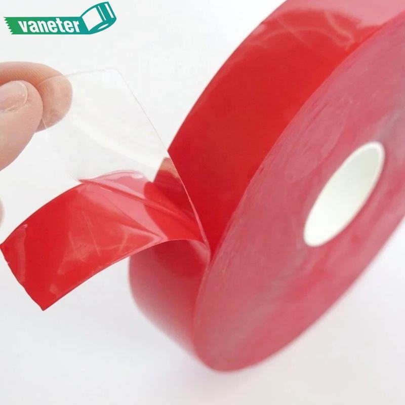 Widely Use Heat Resistant Ultra Thin Polyester Tape, High Viscosity Clear Adhesive Tape Double Sided PET Tape