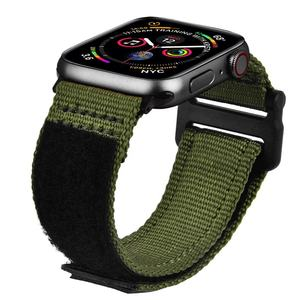 42mm 44mm Men Soft Breathable Woven Nato Nylon Loop Watch Band for Apple Watch Series 5/4/3/2/1