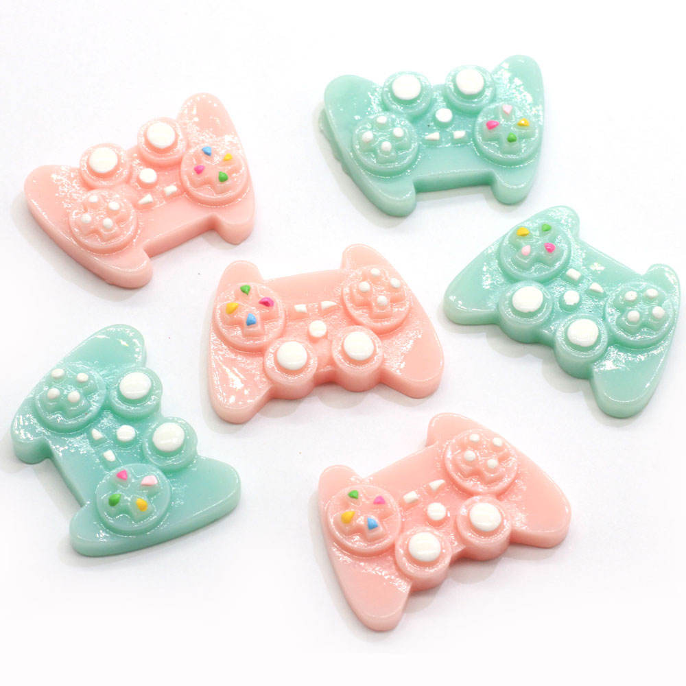 100pcs Cute Miniature Game Controller Flatback Resin Game Consoles Handle Cabochon Flat back DIY Decor Hair Bows Center Toy