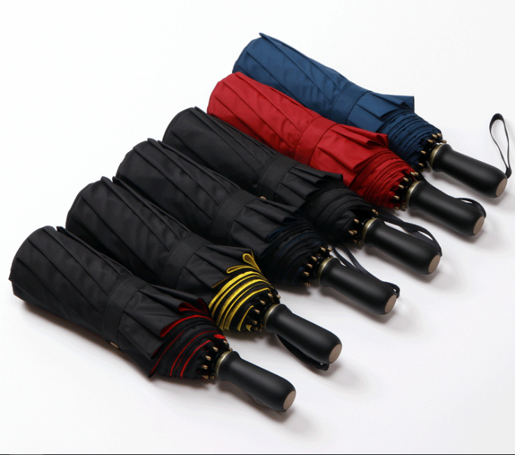 High Quality Double Canopy Manual Open Folding Umbrella