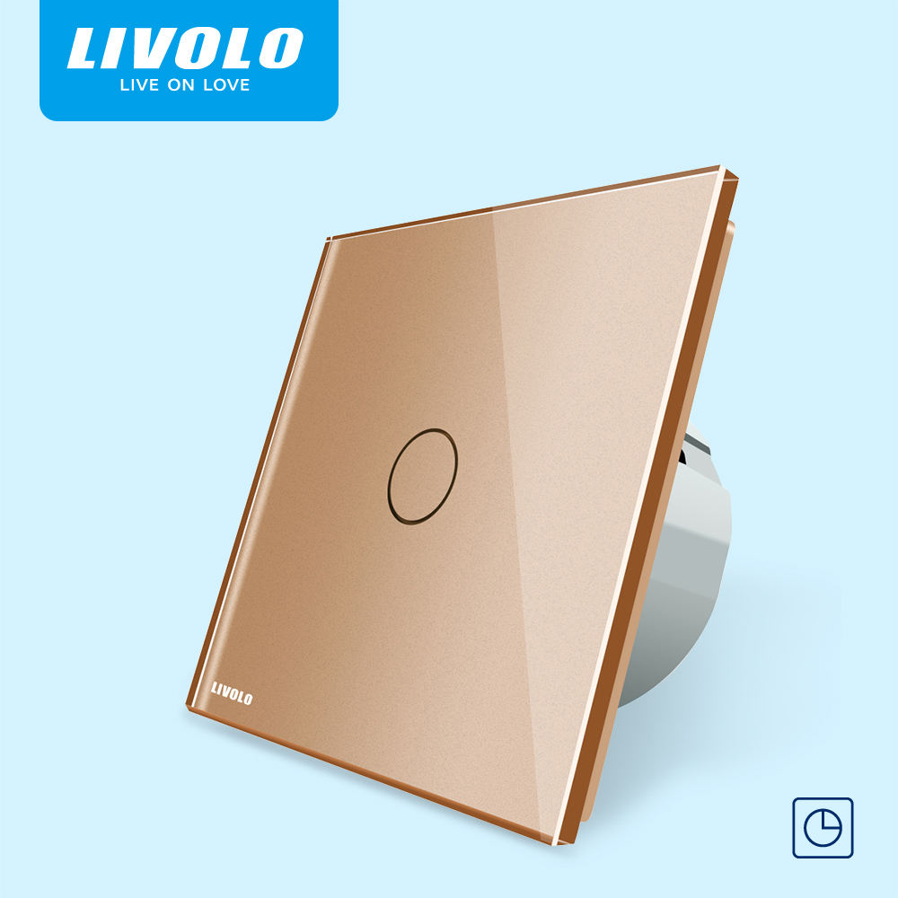 LIVOLO EU 220v screen delay light led smart bulb timer touch switch