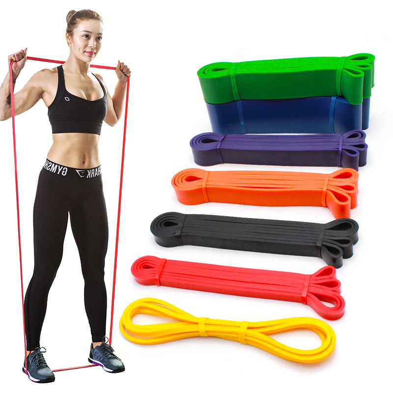 Dropshipping Fitness Rubber Weight Silicone Blue Custom Resistance Loop Elastic Exercise Bands Set