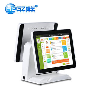 Restaurant Elektronische POS System Smart Einzigen Dual Display Cash Register