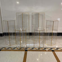 New Design Display Acrylic Clear Plinth Cake Stand   For Ballon  Wedding Decoration