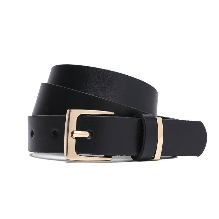 Women Jeans Belts Genuine Leather Fashion Metal Buckle Belt for Lady